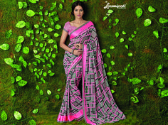 Buy this Exclusive Pink & Brown Georgette Saree with Pink & Brown Fancy Blouse along with Jacquard Border online from Laxmipati.com in USA, UK, Canada,India. Shop Now! 100% genuine products guaranteed. Limited Stock! #Catalogue #SURMAI Price - Rs. 1362.00  #Sarees #ReadyToWear #OccasionWear #Ethnicwear #FestivalSarees #Fashion #Fashionista #Couture #LaxmipatiSaree #Autumn #Winter #Women #Her #She #Mystery #Lingerie #Bla Laxmipati Sarees, Lehenga Saree, Georgette Sarees, Fancy Sarees, Party Wear Sarees, Saree Collection, Bridal Collection, Pink Brown, Pink Grey
