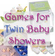 Lots of great game ideas for hosting a twin baby shower