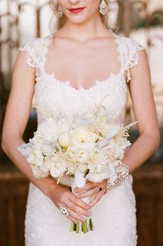 White bouquet: #bouquet #bridal #white: http://picottephotography.com/