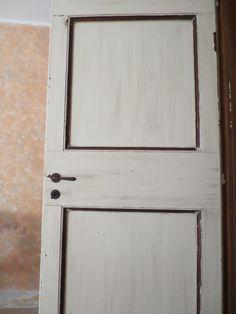 porta stile country in rovere spazzolato con filetto noce anticato
