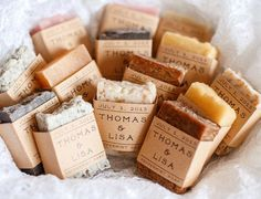 100 MINI WEDDING FAVOR Soap mini wedding soap por RusticJoySoap                                                                                                                                                                                 More