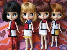 Ravelry: WoollyRockers' YSL Mondrain Dress for Blythe