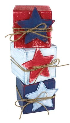 Red White and Blue Blocks - Click through for project instructions.