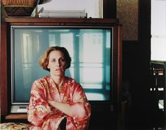 Tina Barney. Jill and the TV. 1989