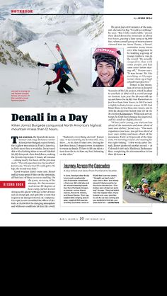 Men's Journal magazine editorial design