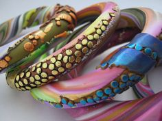 Scrappy Lentil Bangles by DebbieCrothers, via Flickr