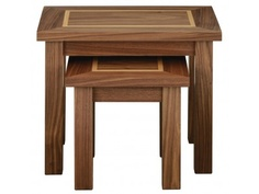 Morris Santos Nest of Tables finished in natural solid walnut and walnut veneer £237.50