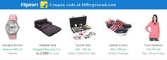 Get flipkart coupons codes 2016 to buy pen drives, cameras, electronics, clothing, footwear, computers, laptops and almost everything here at http://offerground.com/offers/stores/flipkart/.