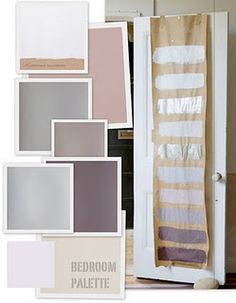 Love this palette completely inspires me! Master Bedroom.  Pale purple with Dark Purple Accents and Silver