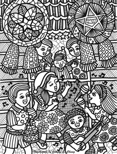 Christmas In The Philippines Illustrated By Jimmy Chung PhilippinesColoring Book PagesPreschool PrepAnti StressAdult