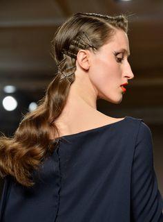 Hair and makeup inspired by Hollywood at at Zac Posen Fall 2014 #NYFW