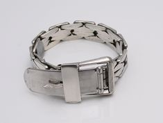 Sterling Silver Buckle bracelet made by O.P Orlandini-A-Erre Italy c.1960