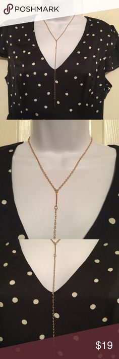 brand-new gold tone long fashion jewelry necklace 007 pretty brand-new gold-tone Long necklace fashion jewelry for a woman's and ladies.  Check out my closet, we have a variety of Victoria Secret, Bath and Body Works, handbags 👜 purse 👛 Aerosoles, shoes 👠fashion jewelry, women's clothing, Beauty products, home 🏡 decors & more...  Ships via USPS. Don't forget to bundle, you save big! Always a FREE GIFT 🎁 with every purchase!!! Thank you & Happy Poshing!!! Jewelry Necklaces