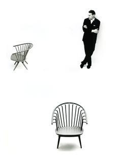 Ilmari Tapiovaara   Designmuseo,  Ilmari Tapiovaara ja/och/and tuoli/stol/chair Crinolette, 1961.