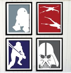 Star Wars Print Set - Boys Nursery or Room, Boys Decor, Personalized Print - (4) 8x10. $60.00, via Etsy.