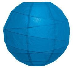 Horizon Blue 10 Inch Premium Round Paper Lantern by Luna Bazaar. $3.95. This small blue paper lantern is made with the finest quality rice paper and bamboo freestyle ribbing. As with all our premium paper lanterns, they can be used with most ceiling fixtures and with most light cords for hanging lanterns. They can also be used with our LED battery lights as convenient, cord-free lighting and decoration for parties, weddings, patios, gardens, and outdoor celebrations. (P...