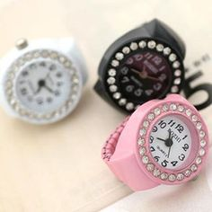 online shopping fashion lovely mix designs finger rings watches with man made diamond