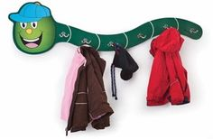 Brighten your preschool and daycare entry rooms with the Whitney Brothers Hat-a-Pillar Coat Rack. http://www.sensoryedge.com/whitney-brothers-hat-a-pillar-coat-rack.html