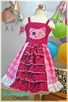 Gooseberry Lane Originals Lalaloopsy Jewel Sparkles Ruffle Dress. $70.00, via Etsy.