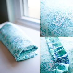 such a great idea...bleaching out too 'perfect' fabric to make more subtle and usable (and really, this site is just full of amazing ideas!)