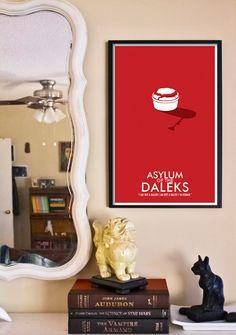 "Doctor Who Poster: Asylum of the Daleks - 11""x17"" Science Fiction Art Print. $18.00, via Etsy."