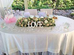 Tavolo romantico degli sposi.