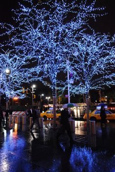 Blue Christmas in NY. NYC will ALWAYS have a place in my heart.