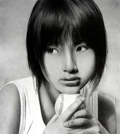 aya ueto   sadness by  ken lee - Pencil Drawings by Ken Lee  <3 <3