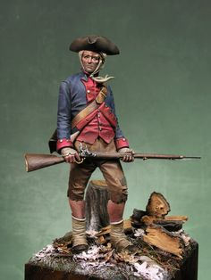 Private Virginia Regiment - Virtual Museum of Historical Miniatures Independencia Usa, English Restoration, Waterloo 1815, Military Figures, Virtual Museum, Colonial America, American War, American Revolution, Little People