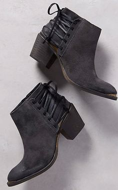 Berta Lace-Back Booties #anthrofave