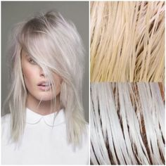dive into the world of hair toner—how you can achieve the proper blonde, minus brassy orange and yellow tones?Let's dive into the world of hair toner—how you can achieve the proper blonde, minus brassy orange and yellow tones? Tone Yellow Hair, Yellow Blonde Hair, Silver Blonde, Icy Blonde, Pastel Blonde, Brassy Blonde, Going Blonde, Silver Hair Dye, Pastel Purple