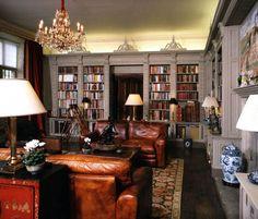 leather sofa books shelves interiors