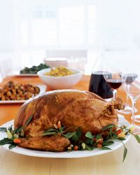 Chile-Roasted Turkey with Chorizo-Corn Bread Stuffing // More Ethnic Turkeys: http://www.foodandwine.com/slideshows/ethnic-thanksgiving-turkey-recipes #thanksgiving #foodandwine