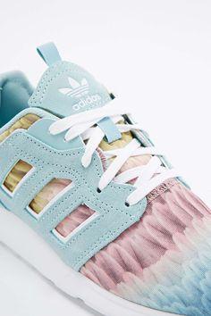 adidas - baskets farm zx 500 vert pâle