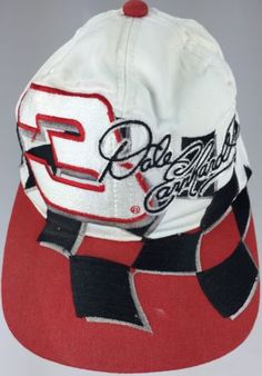 Dale Earnhardt Sr  3 GM Goodwrench Service Plus VINTAGE NASCAR Hat Checkered 9c4e4e7cd27b