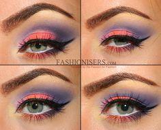 Soft Neon Rainbow Makeup Tutorial  #makeup #neonmakeup #neon #makeuptutorials