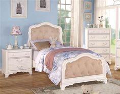 Ira White Wood Twin Bed