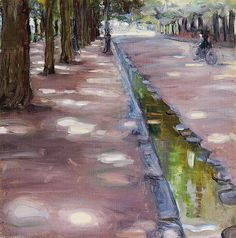 Maurice Prendergast (American, 1858-1924), Along the Seine, c. 1894.