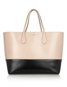 blush and black tote bag