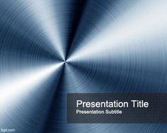 Blue Steel PowerPoint Template is a nice background template for Microsoft PowerPoint presentations that you can download and use as an abstract background but also formetallurgical sector
