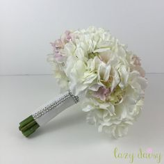 Mixed Colors Hydrangea Wedding Bouquet by LazyDaisyStore on Etsy