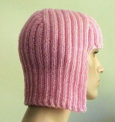 Lady Gaga Pink Hair Hand Knit Hat-Wig - via @Craftsy