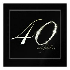 40 and Fabulous Personalized Invitation