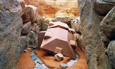 finely shaped Granite stone in the Asuka area of Japan. Complete mystery of how and why.