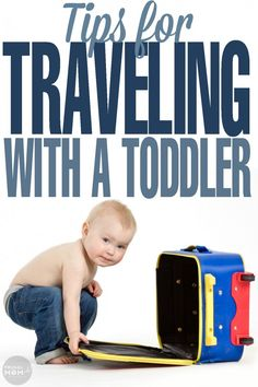Tips for traveling with a toddler whether you are going on a road trip or taking your toddler flying on a plane. Be prepared for travel as a family!