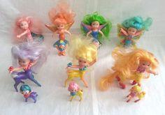 Vintage 1986 KPT rare Kenner Sea Wee Shimmers and babies lots total 13 #DollsandFigures