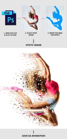 Animated Shatter And Dust Photoshop Action by graycells-graphic   GraphicRiver