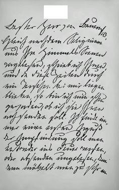 Handschrift van Ottilie von Goethe-Pogwisch, schoondochter (1796-1872)