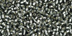 TOHO Seed Bead 15/0  SilverLined Gray  2.5 by EarthTreasuresGems