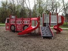 Firetruck Playground in WIsconsin, Photo Gallery - Commercial Playground Equipment | Outdoor Play Structures | BCI Burke